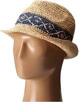 Roxy Witching Straw Fedora Hat