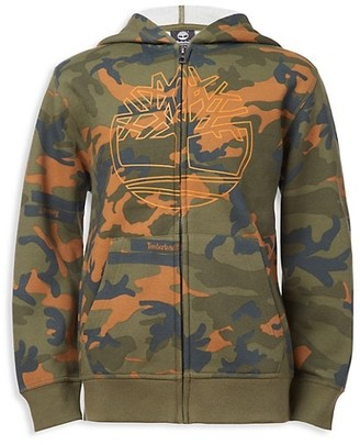 Timberland Boy's Camouflage Cotton-Blend Hoodie