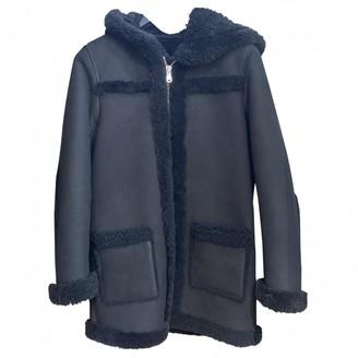 Sandro Fall Winter 2019 Black Shearling Coats
