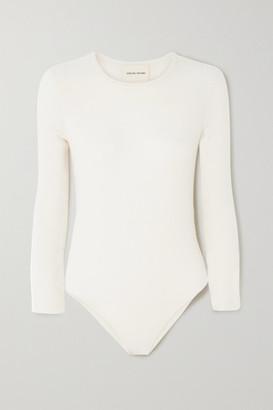 LOULOU STUDIO Pietra Cashmere-blend Bodysuit - White