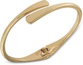 Lauren Ralph Lauren Gold-Tone Sculptural Hinged Bangle Bracelet