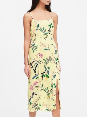 Banana Republic Petite ECOVERO Square-Neck Midi Dress
