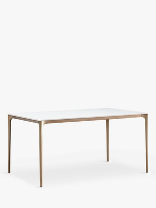 west elm Canto 6 Seater Dining Table, Quartz/Light Bronze