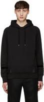 Alexander McQueen Black Multi-texture Hoodie