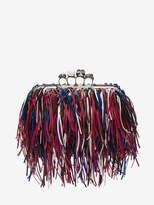 Alexander McQueen Fringed four-ring clutch