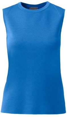 Akris Cashmere & Silk Sleeveless Ribbed Tank Top