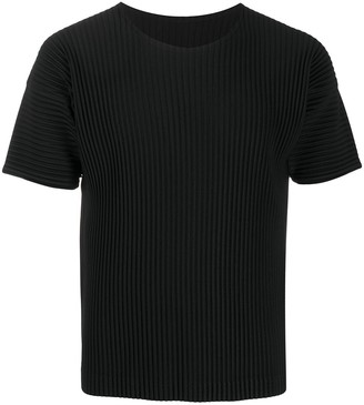Homme Plissé Issey Miyake pleated short-sleeved T-shirt
