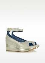 Marc by Marc Jacobs Open-toe Patent Leather Wedge Sandals