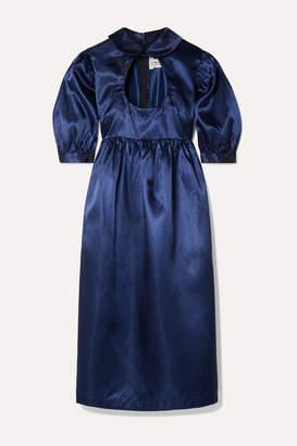 Comme des Garcons Cutout Satin Dress - Navy