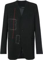Isabel Benenato contrast seam blazer