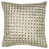Aura Polu Dupioni Beaded 20-Inch Square Throw Pillow in Gold