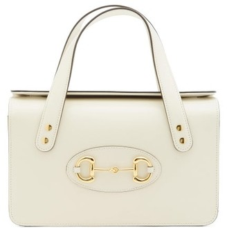 Gucci 1955 Horsebit Boston Small Leather Bag - White