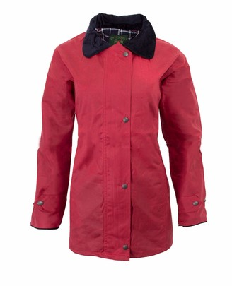 Walker And Hawkes Walker & Hawkes - Ladies Wax Antique Jacket Countrywear Hunting Waxed Coat - Red - 8