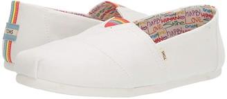 Toms Seasonal Classics (Grey Linen) Men's Slip on Shoes