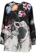 Vionnet Printed Silk-Twill Top