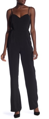 Sugar Lips Tally Lace-Up Jumpsuit
