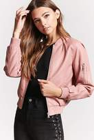 Forever 21 Faux Leather Bomber Jacket