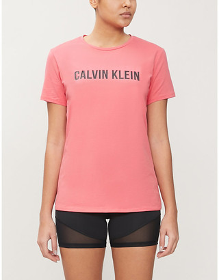 Calvin Klein Performance logo-print cotton-jersey T-shirt