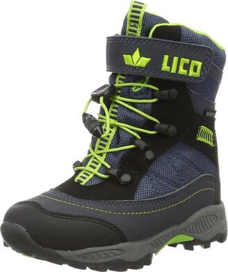 Lico Unisex Kids SUNDSVALL VS Snow Boots Blue (MARINE / BLACK / LEMON) 26 EU