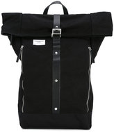SANDQVIST 'Rolf' waxed backpack - unisex - Leather/Canvas - One Size