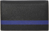 Valextra Black and Blue Stripe Business Card Holder