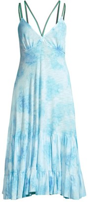 Pitusa Tie-Dye Cover-Up Dress