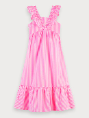 Scotch & Soda Striped Cotton Dress | Girls