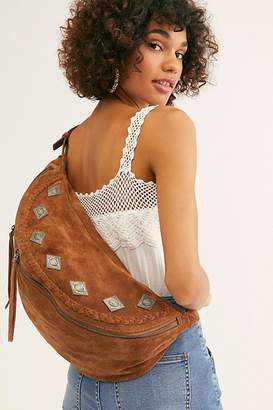 Free People Fp Collection Chessie Suede Embellished Sling Bag by FP Collection at