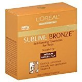 L'Oreal Sublime Bronze Self-Tanning Body Towelettes, 6-Count (Pack of 2)