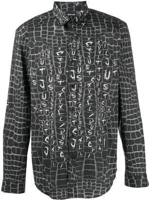 Just Cavalli Crocodile-Print Shirt
