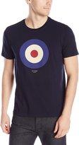 Ben Sherman Men's Short Sleeve Target Crew Neck T-Shirt