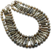 Nest Fringe Bib Necklace, Labradorite