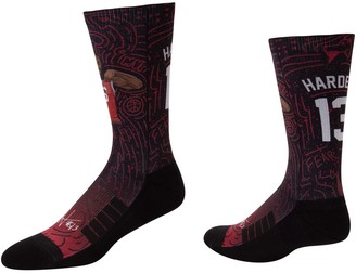 Men's Strideline James Harden Houston Rockets Comfy Full Sublimated Player Crew Socks
