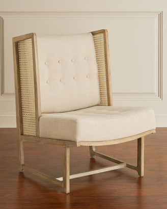 Global Views Driftwood Cane Accent Wing Chair