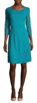 Josie Natori Stretch Lace Flared Dress