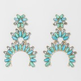 BaubleBar SUGARFIX by Turquoise Squash Blossom Drop Earrings - Turquoise