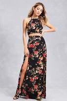 Forever 21 FOREVER 21+ Floral Top & Maxi Skirt Set