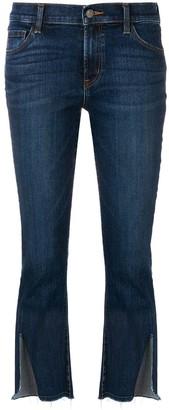 J Brand Cropped Split Cuff Jeans