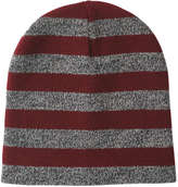 Joe Fresh Women's Stripe Beanie, Burgundy (Size O/S)