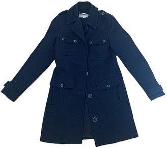 Michael Kors Navy Wool Coat for Women