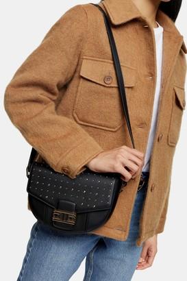 Topshop Womens Brandu Black Saddle Cross Body Bag - Black