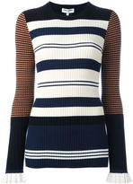 Opening Ceremony contrast stripe ribbed jumper