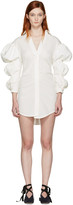 Jacquemus Ecru la Robe Santon Shirt Dress