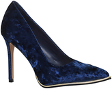 KG by Kurt Geiger Beauty Toe Point Stiletto Court Shoes, Navy Velvet