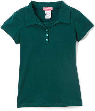 Cutie's Fashions Girls' Polo Shirts HUNTER - Hunter Green Polo - Girls