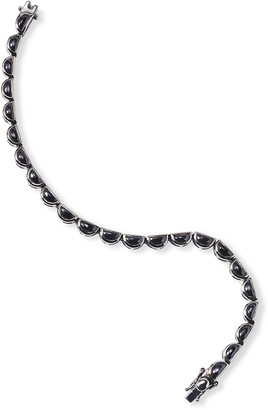 Nakard Small Scallop Tennis Bracelet in Black Spinel
