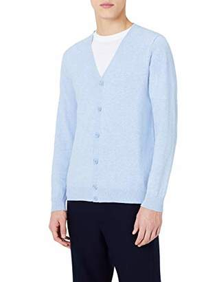 MERAKI Men's Lightweight Cotton V-Neck Cardigan,(Size: Medium)