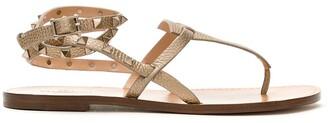 Valentino Rockstud Double flip-flop sandals