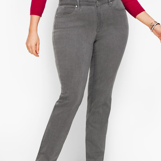 Talbots Plus Size Straight Leg Jeans - Curvy Fit - Deep Grey