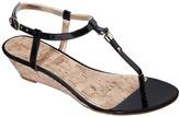 Merona Women's Etha Cork Low Wedge Sandal - Black